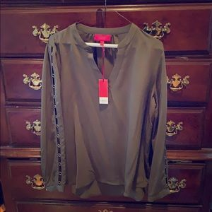 Olive-Green L/S blouse by Jennifer Lopez